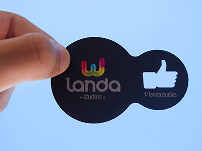 My business card  businesscard advertising logo like facebook circle form cut blue hand mexico