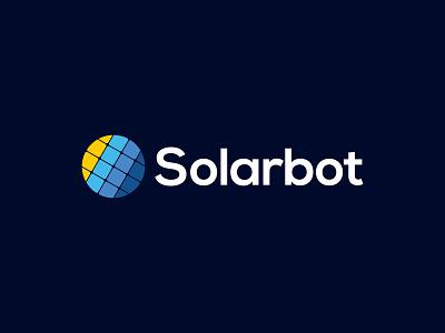 Logo - Solarbot branding illustrator design gold logo