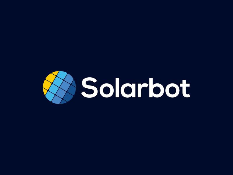 Logo - Solarbot illustrator design gold logo