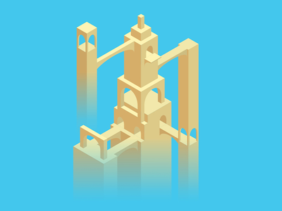 Fez Valley illustration building isometric valley monument fez
