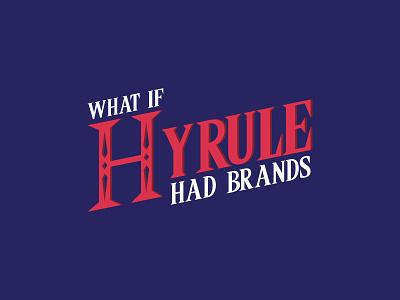 Logo - What if Hyrule had brands ? branding logo blue hyrule link zelda the legend of zelda