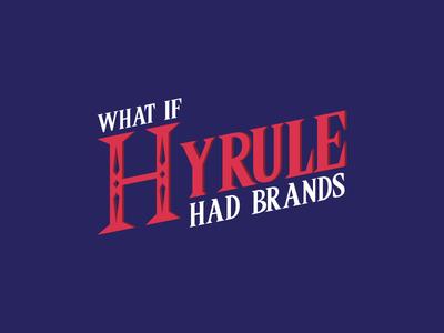 Logo - What if Hyrule had brands ? logo blue hyrule link zelda the legend of zelda