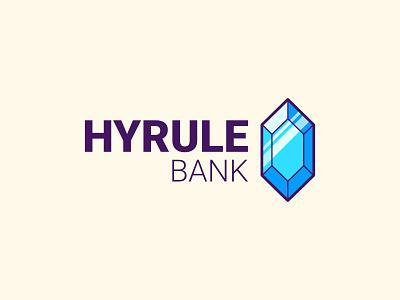 Hyrule Bank branding rupee bank hyrule link logo the legend of zelda zelda