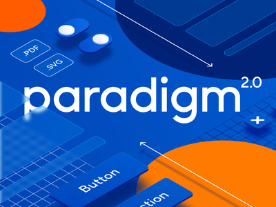 Concept arts for Paradigm 2.0 ui design system isometry digital art art direction concept art