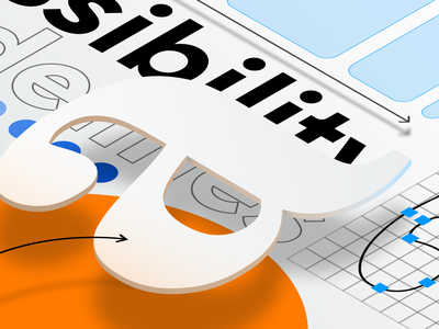 Some arts for new part of our ui guidelines orange design blue design system illustration art guidelines accessibility ui graphic design glay white typography concept art isometry digital art art direction