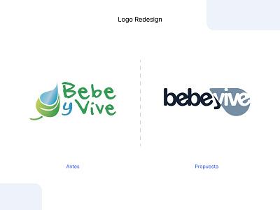 Redesign - Logo Bebe y Vive redesign logo illustrator