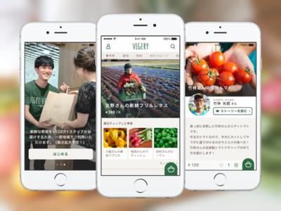 VEGERY iOS App natural app ios ui