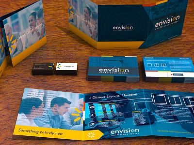 Envision Print Material mockup print 3d brochure business card tri fold info card