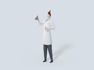 AB Testing Scientist ab testing science render ux ui webdesign character website 3d