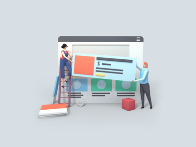 Replicate & Rebuild 3D ultracart characters website ux ui 3d