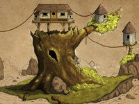 Treehouse Concept Colored