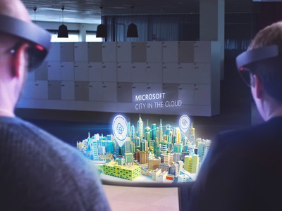 City In The Cloud - Microsoft Hololens Pitch ar city microsoft map interactive 3d hololens