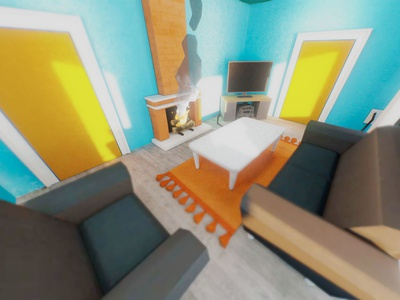 Servpro Prep Game - Glam Shots house fire bedroom bathroom kitchen livingroom bed tv chair website render building low poly c4d 3d