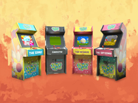 Spare Teeth Arcade Game Animations