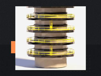 Citgo AR App Tower Animations technology ar app citgo video motion cinema4d animation low poly c4d 3d