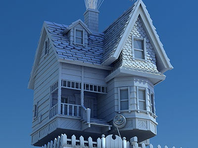 Pixar 39 s up house 3d model by l2d dribbble for Model house movie