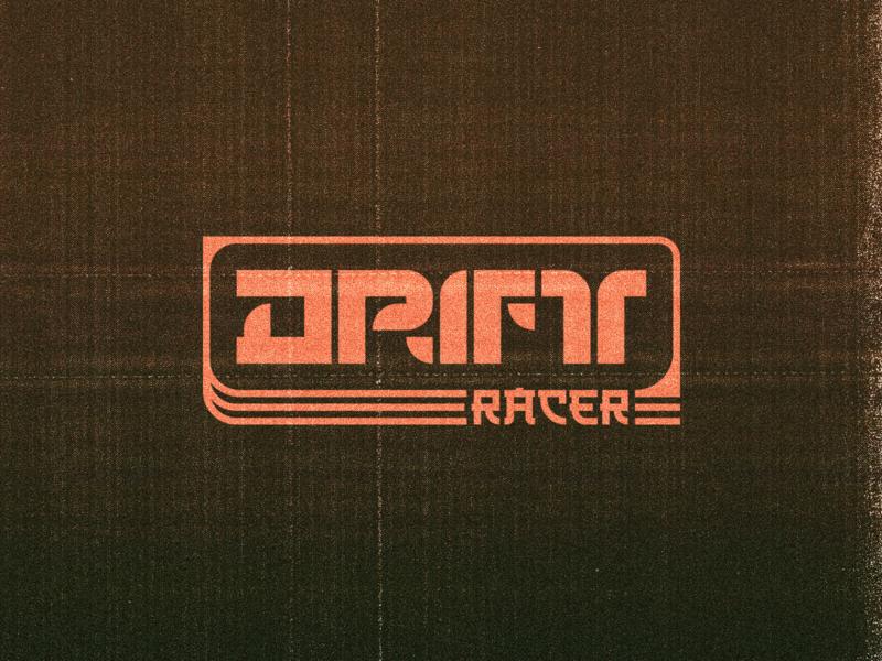 Drift Racer AR Logo logo asain retro dead racing car drift ar branding