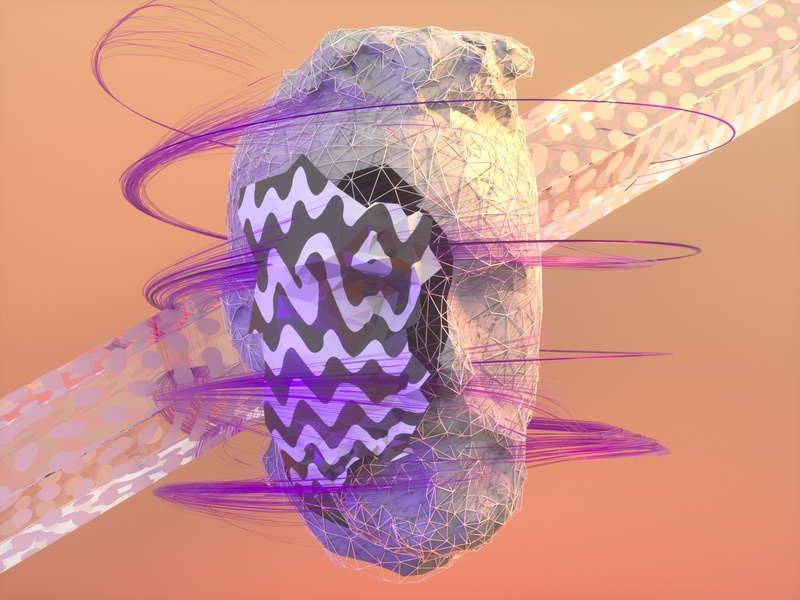 Low Poly Face Off trendy face pattern glass xparticles octane cinema4d render low poly c4d 3d