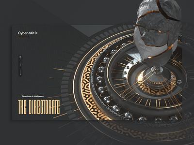 Reux Wheel Layout c4d ui lowpoly pattern design website layout web 3d ux ui design