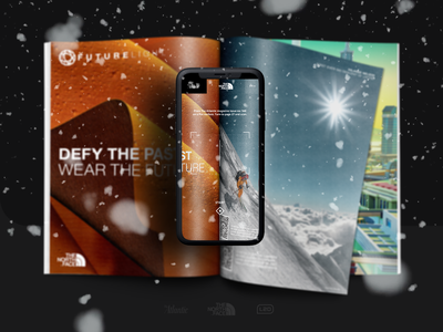 The North Face Mobile Experience Layout awwwards ux layout augmented reality experience mobile ui magazine the atlantic the north face