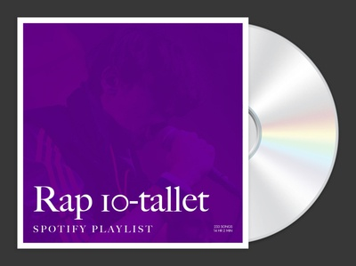 Rap 10-tallet Spotify playlist cover
