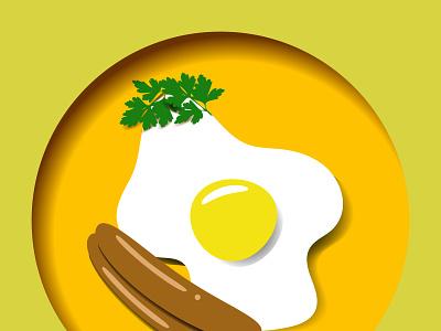 paper egg art icon vector illustrator illustration design