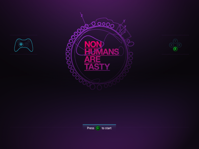 Non Humans Are Tasty: Opening Screen gaming game gradients ui arcade