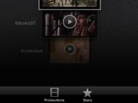 iPad app UI