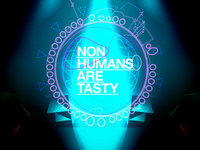 Non Humans Are Tasty - Poster sketch