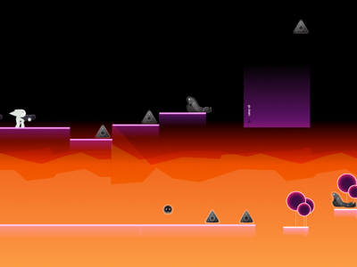 Oldschool game concept gaming game gradients arcade sidescroller shooter
