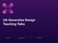 UX design talks - slides