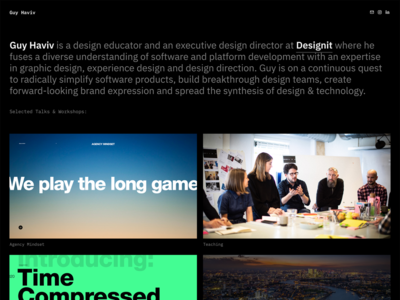 New site: thoughts+talks on design