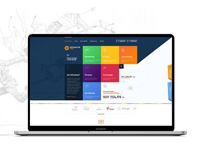 Firm / UI/UX & Development branding illustration interface clean ui ux design web design responsive ux template ui