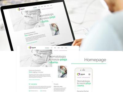 Dental user interface ui ux design interface web design responsive template