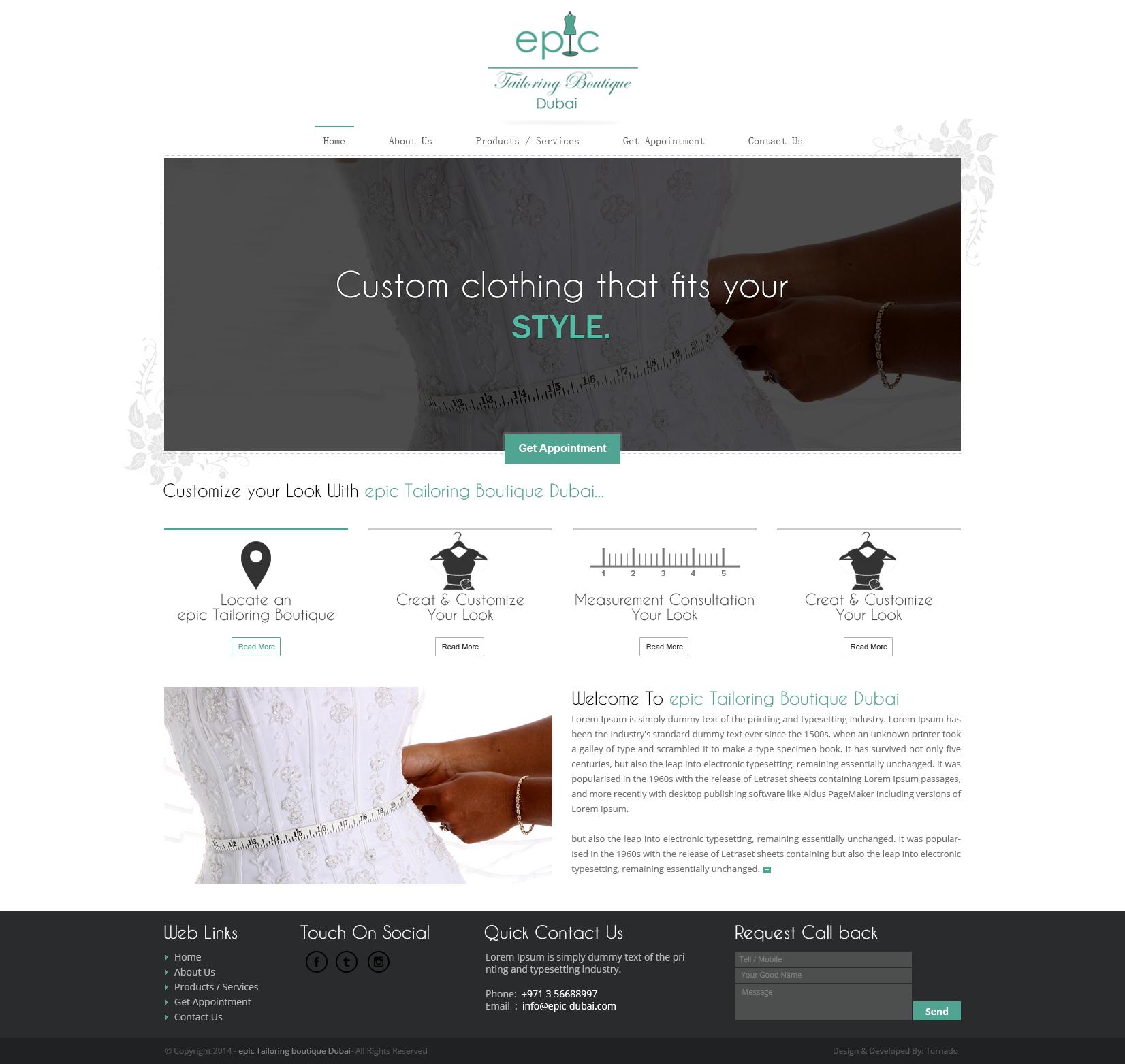 Epic tailoring boutique dubai