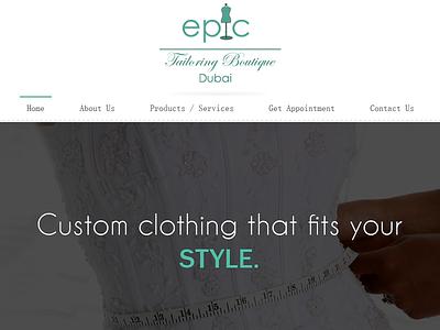 Epic Tailoring Boutique Dubai1 web web design design boutique tailoring dubai tailoring boutique interface freebie widget icons tags