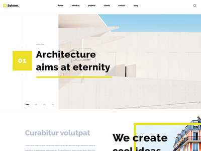 Selene Architecture web desin uidesign landing page architecture