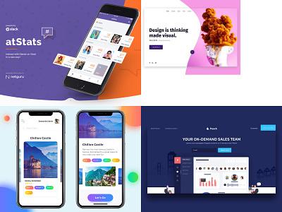 2018 illuatration inteface design landing page webdesign template design ui  ux design ui