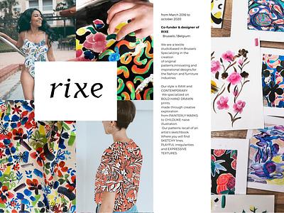 RIXE fashion illustraion textile design