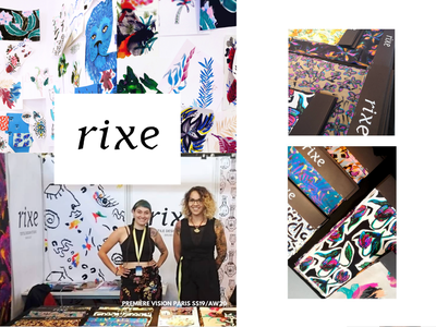 RIXE fashion textile pattern textile design