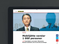Aftonbladet Tablet – Article page