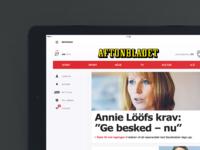 Aftonbladet Tablet – Start page
