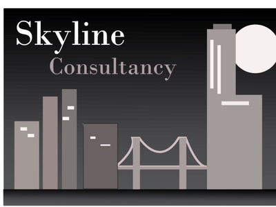 skyline consultancy flat vector branding logo illustration design