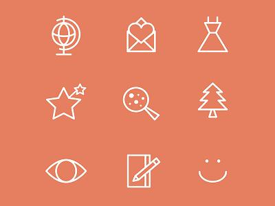 Icons illustration iconography icons