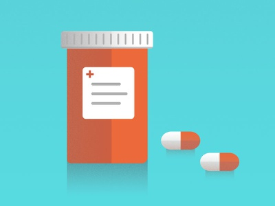 Medication Study icons health science illustration