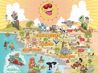 Revised Ultimate Sunny California Postcard