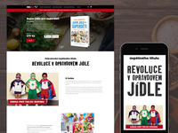 A book landing page: Super Food for Superchildren nutrition health food websitedesign landingpage landing book website ux ui design