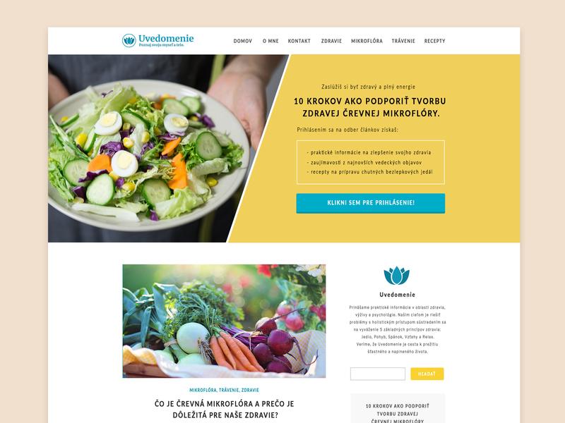 Health & Nutrition Blog Concept web webdesigner webdesign ux ui recipes food health care homepage website design blog nutrition health
