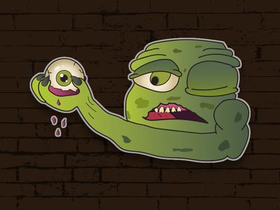 Monster scary eyeball charactedesign branding design character vector slovakia illustration monster