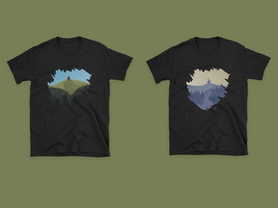 Lysa hora t-shirt design